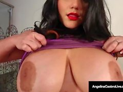 Cuban Cuntplugger Angelina Castro & 2 LezBfriends = 3 BBW Plump Pussies!