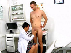 Hot mature prostate and cumshot
