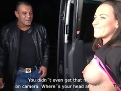 Takevan Mea Melone hunting guys on the street & get one who creampie her