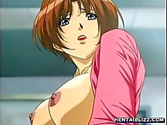 Busty hentai hot doggystyle poked and receive a lot of cum
