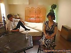 Horny japanese mature babes sucking part6