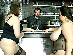 Viktorie lucrecia and friend dominates a bartender