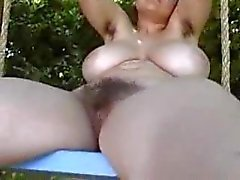 Hairy cunt brunette outdoor playing