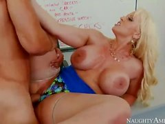 Mom Alura Jenson Teaches Son To Fuck Any Girls