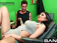 BANG Confessions Busty Brenna tattoo and climax
