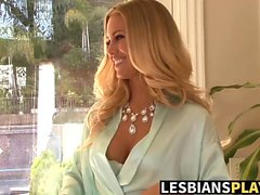 Nicole Aniston licks a sexy big titted blonde Spencer Scott