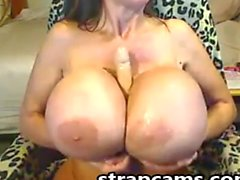 Amazing Mature With Huge Tits Masturbation