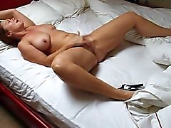 Wife pleasuring herself