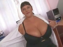 Big Titted Office British Whore dildo Fucking Slut