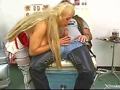 Tattooed Rocker Bangs Nurse With Giant Tits