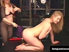 Sex Slave Sunny Lane Is Dominated By Mature Nina Hartley!