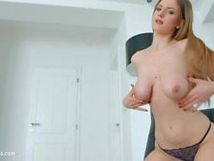 Stella Cox big boobed hottie gets her tits fucked hard by