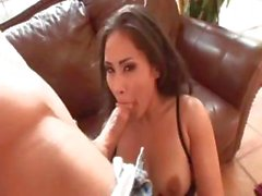 Busty Jessica Bangkok sucks for a bit and then gets pounded