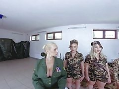 Fivesome With Army Girls