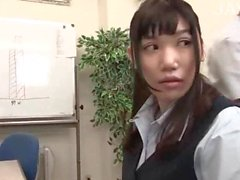 Busty Japanese gets tits massaged