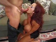 She has big perky tits and she rides cock
