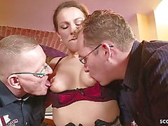 german big tit milf seduce fuck anal in big dick threesome