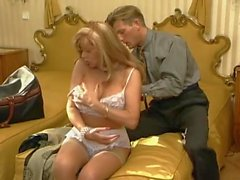 Lace on a tasty milf that loves cock
