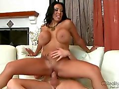 Pumping cock into curvy tattooed milf babe