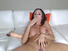 Ariella and giant dildo