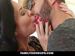 FamilyHookups - super-hot milf Teaches Stepson How To smash