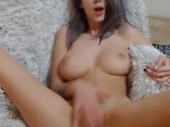 Big natural boobs tits rubbing clit fingering pussy