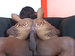 Chubby ebony bitch and a big black cock