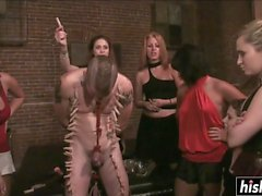 Nasty girls punished an innocent guy