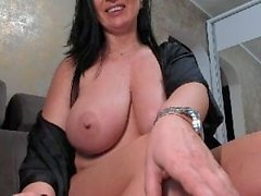 Big tits MILF on webcam