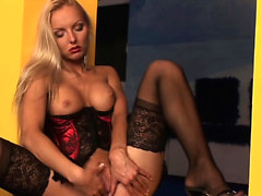 Solo chick plays with a toy