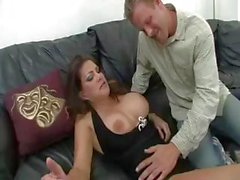 Really busty cougar Teri Weigel scarfs a cock and rides like a cowgirl