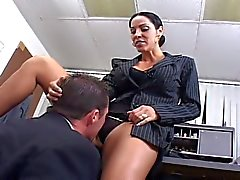 Corporate milf gets fucked hard in her office