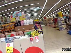 Flawless czech teenie is seduced in the supermarket and rode