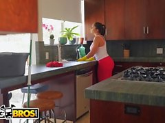BANGBROS - Hot Latina Maid Marta La Croft Gargles On A Huge Cock