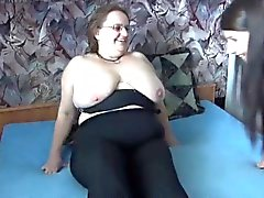 Fat Mature with big boobs with threesome response to ad