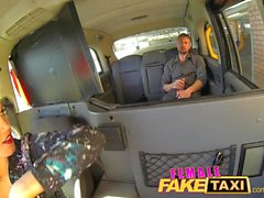 FemaleFakeTaxi Cocky guy shown who's the boss
