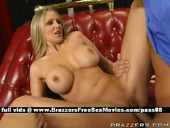 Mature busty blonde slut on the couch gets her wet pussy licked