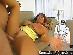 MILF with big tits sucks and fucks a big cock
