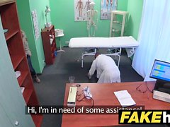 Fake Hospital Big tits horny Milf chiropractor