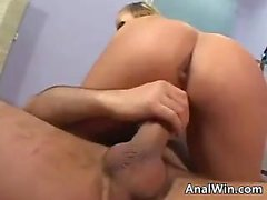 Busty Blonde Getting A Gaping Asshole