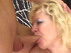 Two dicks make a blonde babe moan