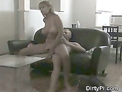 Huge Titty Blonde Housewife Gets Busted On Hidden Cam