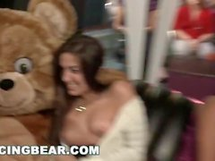 DANCING BEAR - Wild Party Girls Suck Off Big Dick Male Strippers!