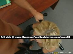 Stunning busty blonde babe naked in the office