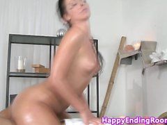 Classy massage babe pussyfucked doggystyle