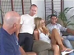 Hubby learns a lesson while watching his blonde MILF wife get pounded