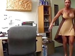 A quickie at the office with two sluts