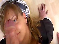 Naughty Maid Fucked For Cash