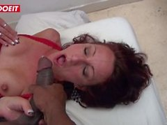 Euro Milf Drilled by Her Big Black Cock