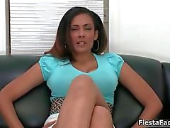 Busty brunette slut goes crazy rubbing